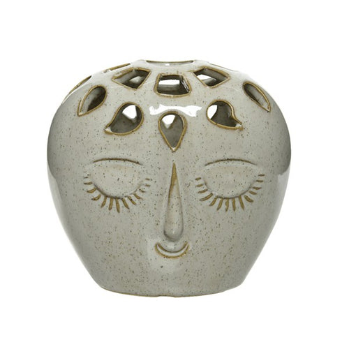 Oval Ceramic Face Vase - Large - Derbyshire Gift Centre