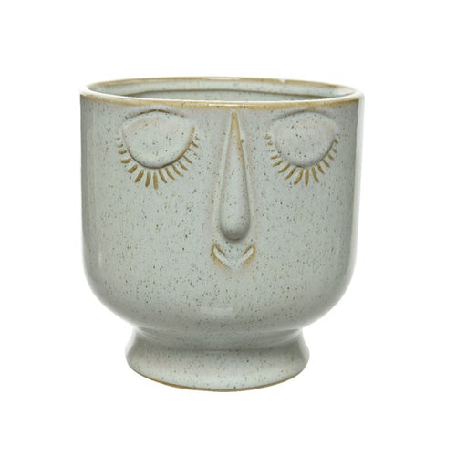 Round Ceramic Face Vase - Large - Derbyshire Gift Centre