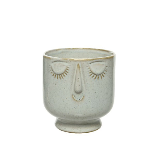Round Ceramic Face Vase - Medium - Derbyshire Gift Centre