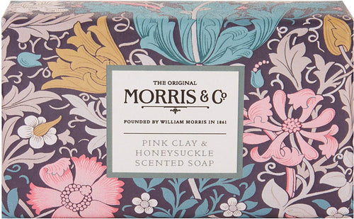 Morris & Co. Pink Clay & Honeysuckle Soap - Derbyshire Gift Centre