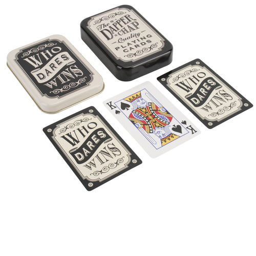 Dapper Chap 'Who Dares Wins' Playing Cards - Derbyshire Gift Centre