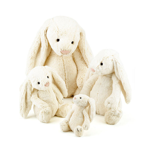 Jellycat Bashful Bunny - Cream, Various Sizes - Derbyshire Gift Centre