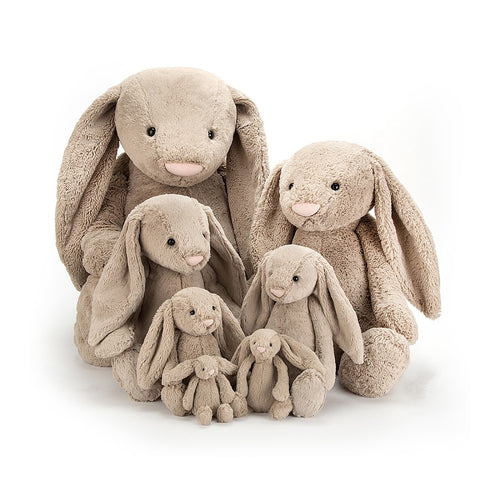 Jellycat Bashful Bunny - Beige, Various Sizes - Derbyshire Gift Centre