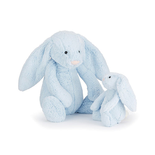 Jellycat Bashful Bunny - Blue, Various Sizes - Derbyshire Gift Centre