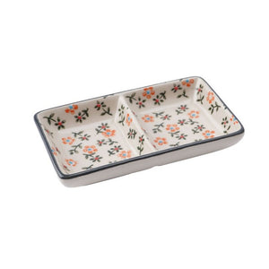 Floral Mini Rectangular Dish - Derbyshire Gift Centre
