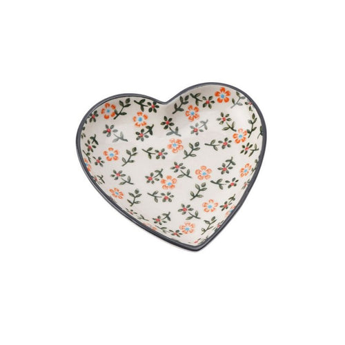 Floral Mini Heart Dish - Derbyshire Gift Centre