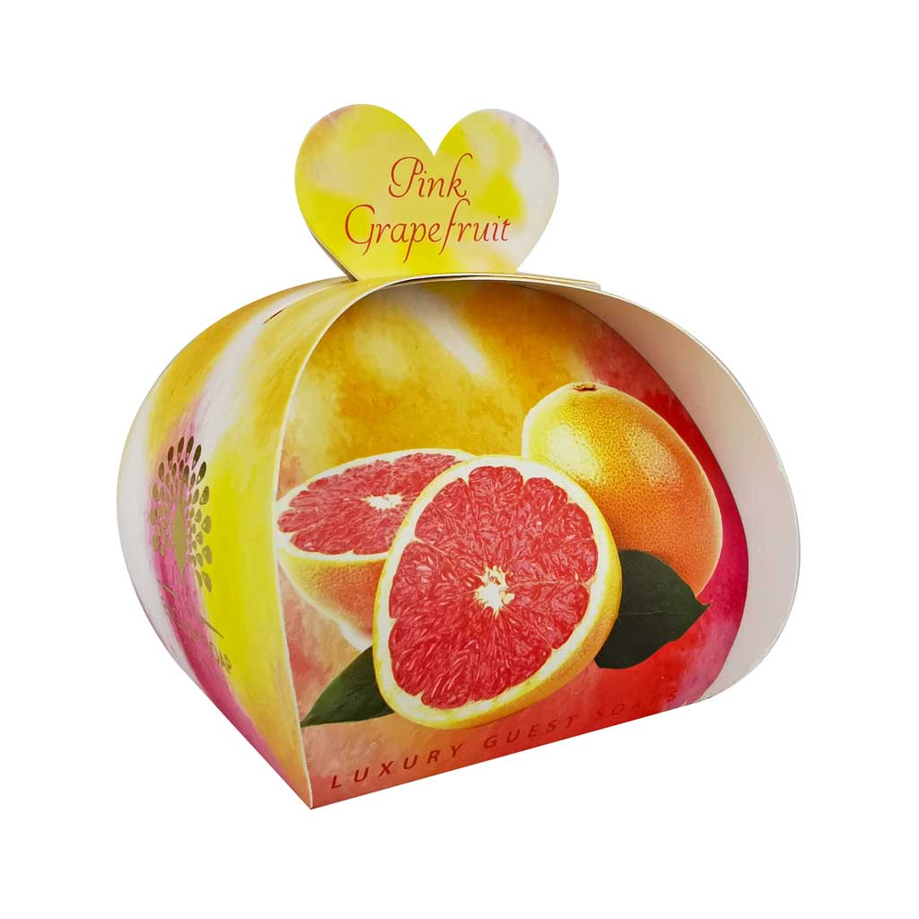 English Soap Company Pink Grapefruit Guest Soaps - Derbyshire Gift Centre
