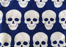 Load image into Gallery viewer, Blue & White Skull Infinity Scarf