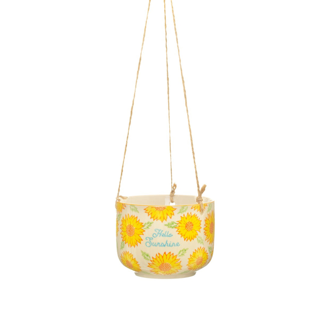 Sass & Belle Sunflower Hanging Planter - Derbyshire Gift Centre