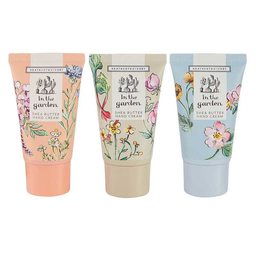 Heathcote & Ivory 'In the Garden' - Hand Cream Trio - Derbyshire Gift Centre
