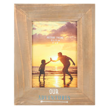 Load image into Gallery viewer, Wooden Photo Frame - Our Adventures - Derbyshire Gift Centre