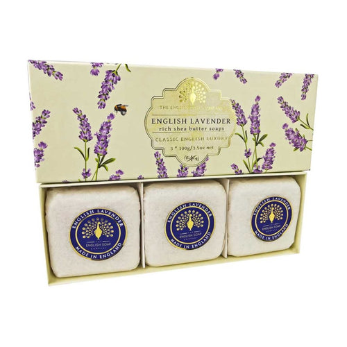 English Soap Company - English Lavender Wrapped Soaps - Derbyshire Gift Centre