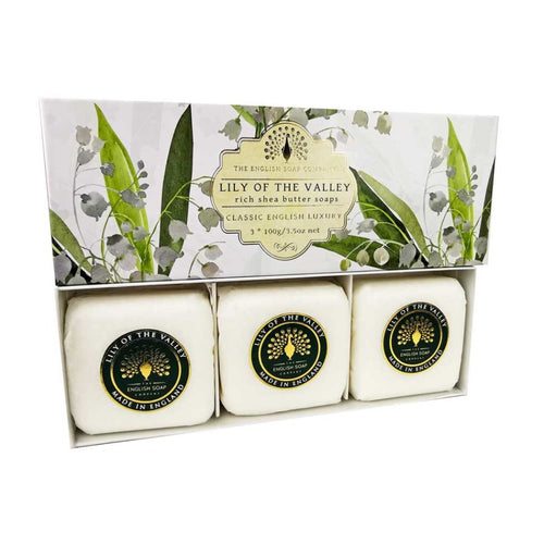 English Soap Company - Lily Of The Valley Gift Wrapped Soaps - Derbyshire Gift Centre