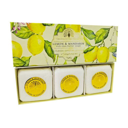 English Soap Company - Lemon & Mandarin Gift Wrapped Soaps - Derbyshire Gift Centre