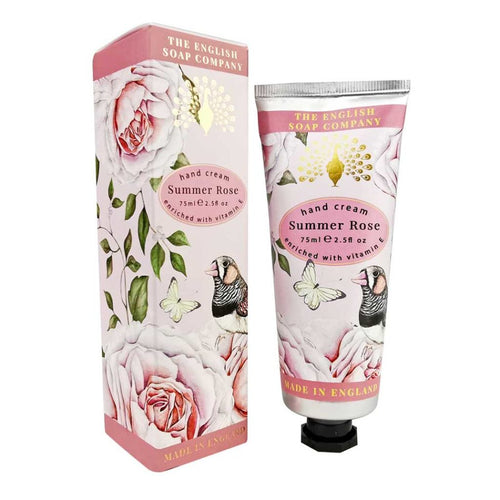 English Soap Company - Summer Rose Hand Cream - Derbyshire Gift Centre