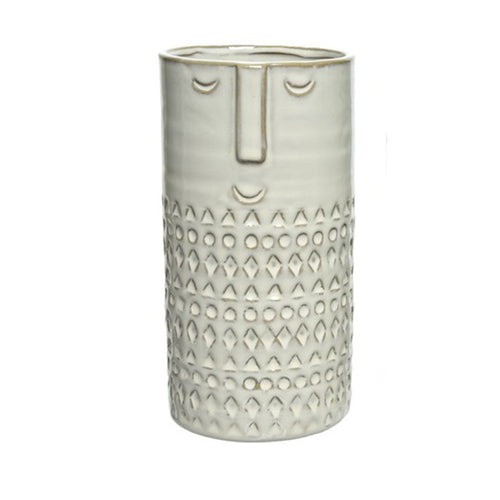 Long Ceramic Face Vase - Derbyshire Gift Centre