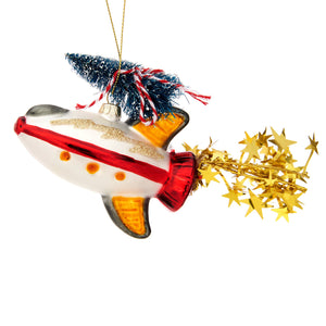 Sass & Belle Outer Space Christmas Tree Rocket Bauble