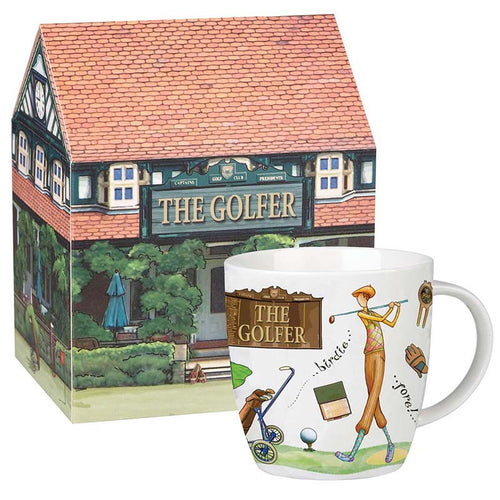 The Golfer Fine China Mug - Derbyshire Gift Centre