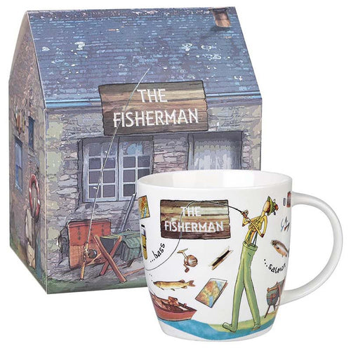 The Fisherman Fine China Mug - Derbyshire Gift Centre
