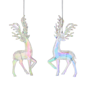 Iridescent Acrylic Reindeer Tree Decoration