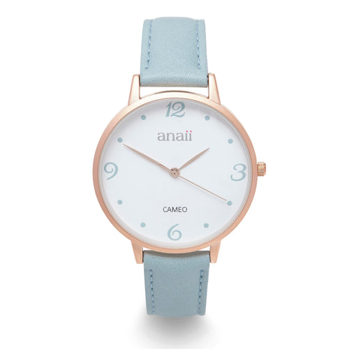 Anaii 'Cameo' Watch - Steel Blue - Derbyshire Gift Centre