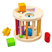 Load image into Gallery viewer, BigJigs Rolling Shape Sorter - Derbyshire Gift Centre