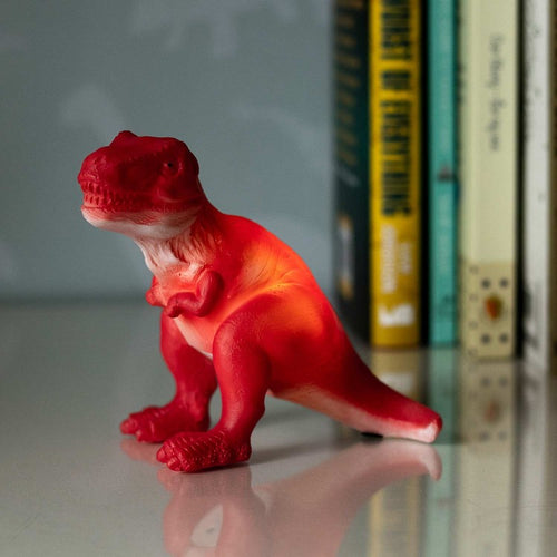 Red T-Rex Mini LED Lamp - Derbyshire Gift Centre