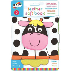 GALT Teether Soft Book - Farm - Derbyshire Gift Centre