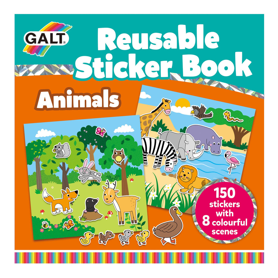 GALT Reusable Sticker Book - Animals - Derbyshire Gift Centre