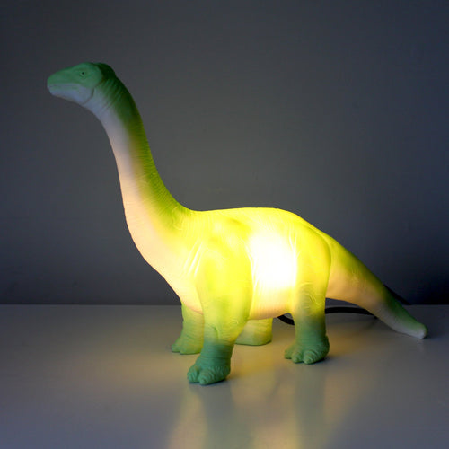 Green Diplodocus Lamp - Derbyshire Gift Centre