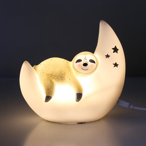 Over The Moon Sloth Mini LED Light - Derbyshire Gift Centre