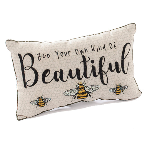 Bee Your Own Kind Of Beautiful Cushion - Derbyshire Gift Centre