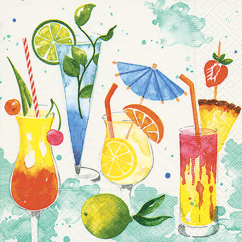 Cocktail Napkins - Colourful Drinks - Derbyshire Gift Centre