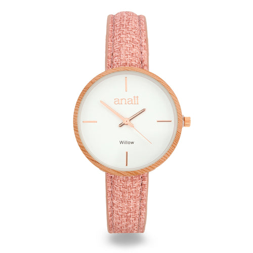 Anaii 'Willow' Watch - Pink - Derbyshire Gift Centre