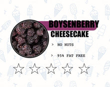 Load image into Gallery viewer, Sweet Retreat Gelato: Boysenberry Cheesecake - no gluten, eggs or nuts and 95% fat free - 500gr tub
