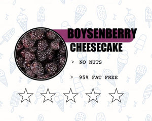 Sweet Retreat Gelato: Boysenberry Cheesecake - no gluten, eggs or nuts and 95% fat free - 500gr tub