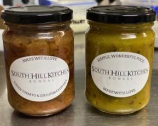 South Hill Kitchen: Home grown Green Tomato and Zucchini  Chutney - 250gr jar