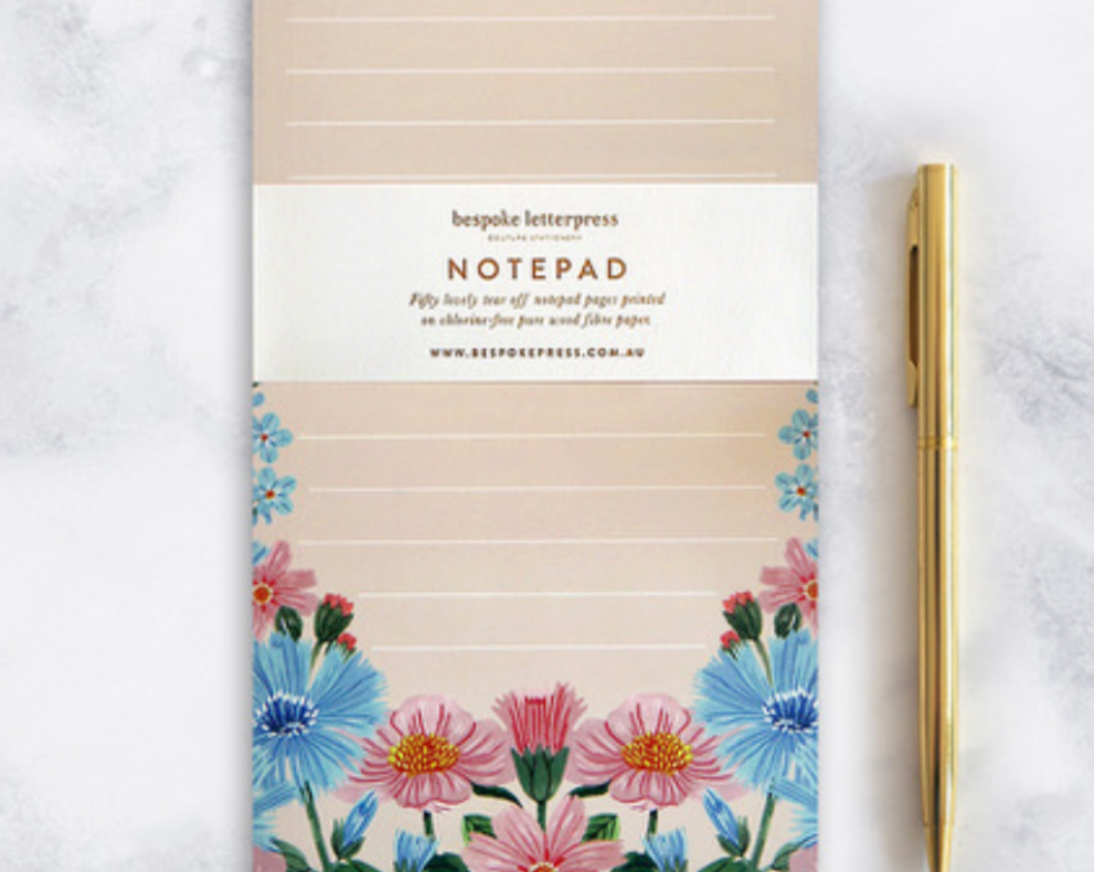 Bespoke Letter Press: Folk DL Notepad
