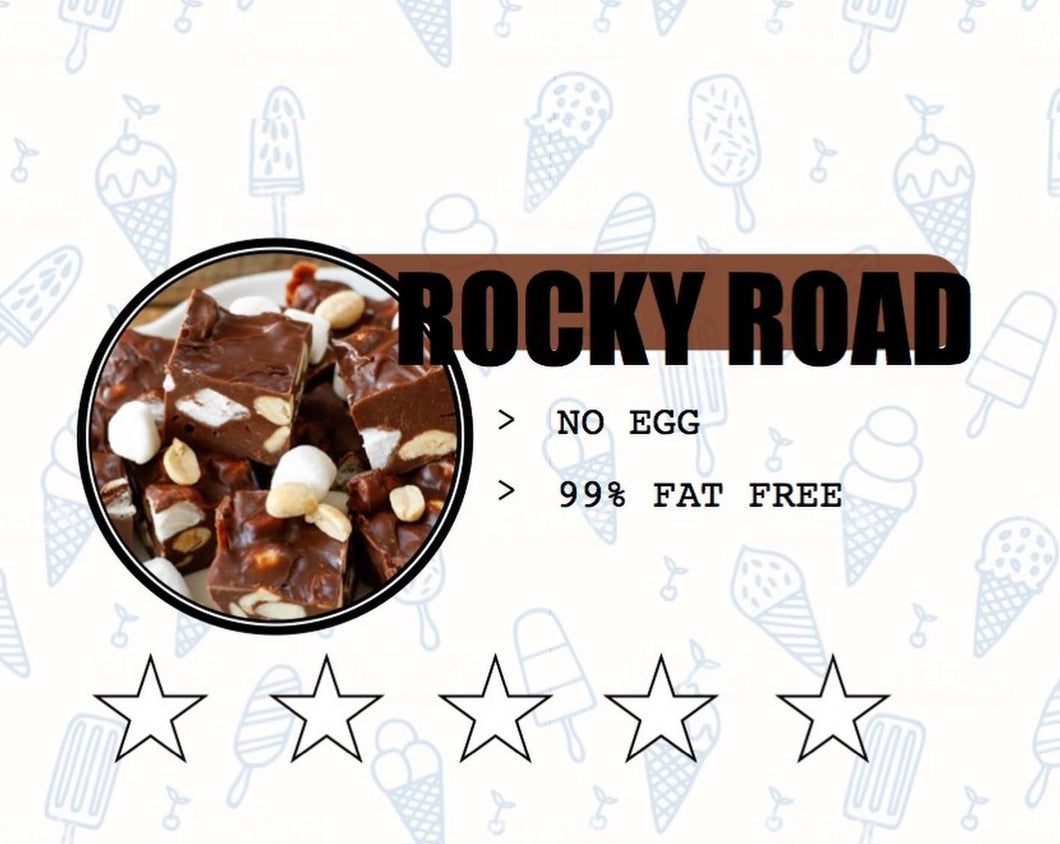 Sweet Retreat Gelato: Rocky Road - no egg and 95% fat free - 500gr tub