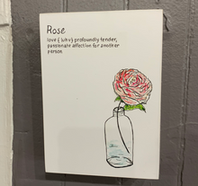Load image into Gallery viewer, Floral Wood Block Wall Plaques