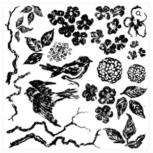 Birds Branches and Blossoms Stamp