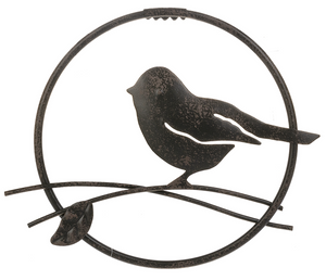 Metal Bird Circle - Wall Decor