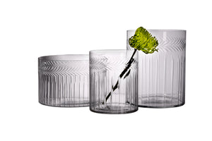 Glass Hand-Etched Vase - 2 styles