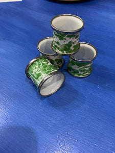 Napkin Rings - Enamel - Set of 4