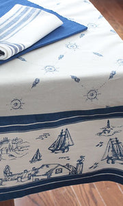 "Tablecloth - Sailboats  60"" x 120"""