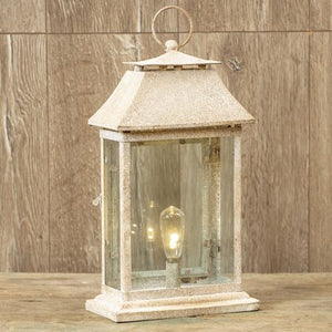 Lantern - White Henry -- Battery Operated