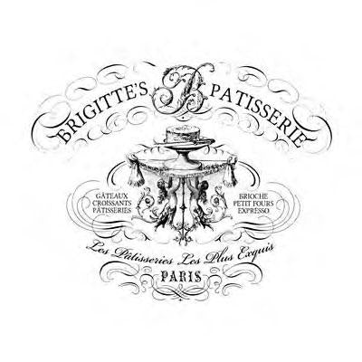 Brigitte's Patisserie  Wide- Charcoal - Transfer