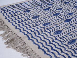 Rug - Blue and White - Fish