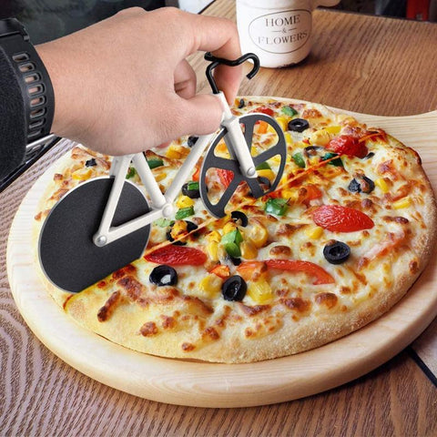 Practical bike pizza cutter