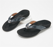 Arch Support Leather Thong Sandals【$10 off when you spend $100 (Input code: D10)】